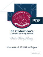 Homework Position Paper Sept 2013