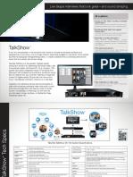 TalkShow Onesheet US