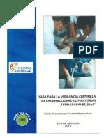 Guía para vigilancia centinela de vías respiratorias