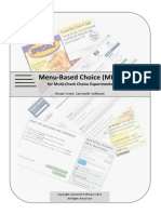 2012 Menu-Based Choice (MBC) for Multi-Check Choice Experiments [Bryan Orme - Sawtooth]