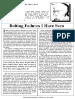 Bolt Failures i Have Seen