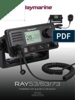 Ray53, Ray63, Ray73 Installation and Operation Instructions 81381-2-En