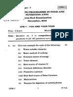 IGNOU CFN 1 DEC-2019 old question paper