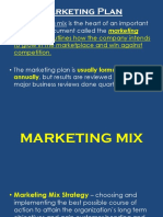 Marketing Plan, Mix, Function