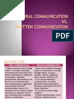 1 Oral Communication