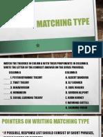 Matching Type