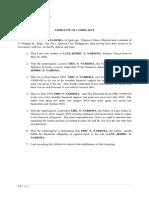 Affidavit of MARY ANN ZAMORA - Estranged Husband