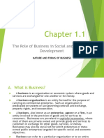 Chapter 1.1 -Nature and Forms of Business
