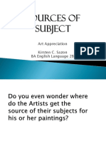 Sources of Subject