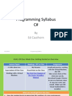 EStart Syllabus CSharp Fall2013