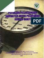 Juklak Indikator Mutu Yan RS SPM