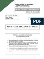 Prova Assistente Administracao Tipo 12009
