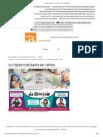 La hipercalciuria en niños - Mis Chiquiticos.pdf