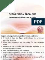 Lesson 7 Optimization Problems