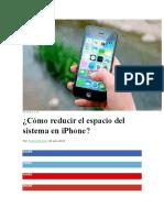 iPhone Para Reducir Espacio