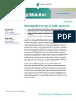 16 05 2018 Renewable Energy in Latin America