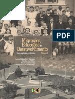 Livro Imigrações educação e desenvolvimento