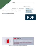 Optimize Performances of Crossflow Turbine with multi nozzle