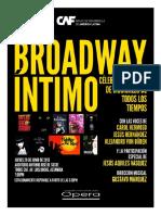 Broadway Íntimo - Invitación