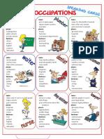 Jobs Occupations Speaking Cards Fun Activities Games Icebreakers Oneonone Activiti 68842