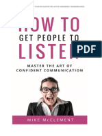 How to Get People to Listen - Mike Mcclement - Think Confidence