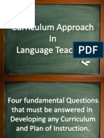 Curriculum Approach in Language Teaching