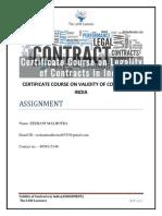 contract assingment