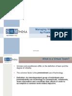 Managing Virtual Work Teams