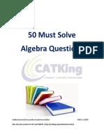 50 Must Algebra Questions