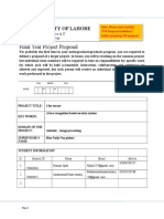 Form-1 Project Proposal Template