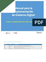 Manual para la implementación  de Gobierno Digital
