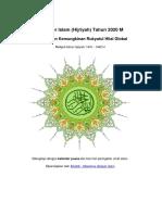 Kalender Islam Global Tahun 2020 m 1