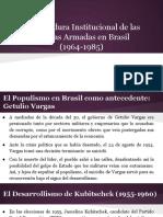 Presentación sobre la dictadura institucional de las FFAA en Brasil