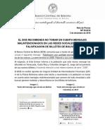 CP 56 - Comunicado Billetes Falsos