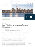Four Principles of Document Revision Management