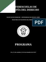 Programa - V Interescuelas de Filosofía Del Derecho