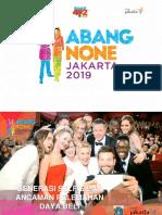 Materi spesial untuk abang none Jakarta 2019