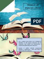 Trabajo de Análisis Textos Liricos 2019