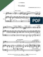 Vocalise Rachmaninoff D#Menor