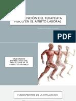Intervención Del Terapeuta FÍSICO en EL ÁMBITO LABORAL