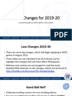 Ayso Law Changes 2019-20