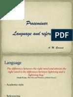 Proseminarium Language and Referencing
