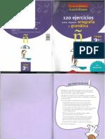 Vacaciones Santillana - Lengua 3º - 120 Ejercicios Ortografía y Gramática