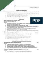 linda kenny resume 2019