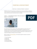 10 Steps for Starting a Recruitment Agency