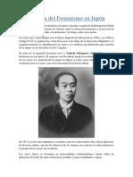 Historia Del Feminismo en Japón