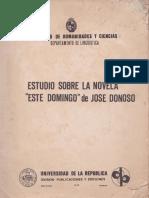 Estudio Sobre La Novela Este Domingo de Jose Donoso UdelaR PDF (1)