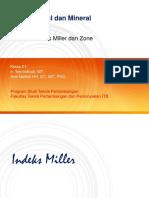 Materi Minggu Ke-03 - Indeks Miller 2019
