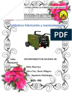 Informe de Soldadura Maquinas
