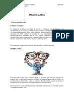 SESIÓN N° 04 EXAMEN CLÍNICO